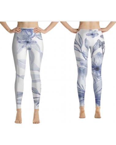Blue Flower leggings and...